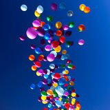 Colorful Balloons flying in the sky party Stock Images
