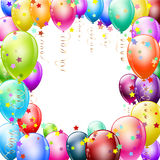 Colorful balloons frame royalty free illustration