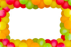 Colorful balloons frame Stock Photography