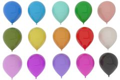 Colorful balloons fun for party in 3D rendering Royalty Free Stock Photography