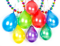 Colorful balloons and garlands. Party decoration Royalty Free Stock Photography