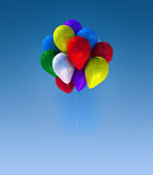 Colorful balloons. Group colorful balloons flying in the sky Stock Image