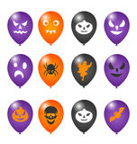 Colorful balloons for Halloween party Stock Photography