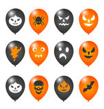 Colorful balloons for Halloween party Royalty Free Stock Images