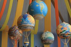 Balloons at the Land Pavilion Royalty Free Stock Images