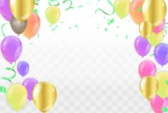 Colorful balloons Happy Birthday on  background.vector. Eps.10 Stock Images