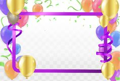 Colorful balloons Happy Birthday on background.vector. Eps.10 stock illustration