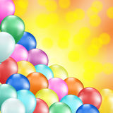 Colorful balloons holiday Stock Image