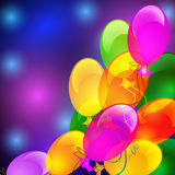 Colorful balloons. Holiday background with inflatable colorful balloons Stock Photos