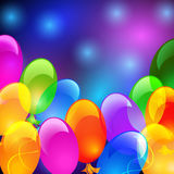 Colorful balloons. Holiday glowing background with inflatable colorful balloons Royalty Free Stock Image