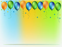 Colorful balloons illustration Royalty Free Stock Image