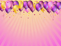 Colorful balloons illustration Royalty Free Stock Photo
