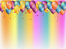 Colorful balloons illustration Stock Image