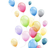 Colorful Balloons. Illustration of  Colorful Flying Balloons Stock Photos