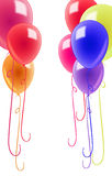 Colorful balloons isolated Royalty Free Stock Images