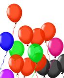 Colorful balloons isolated on white. Image of colorful balloons isolated on white Stock Image