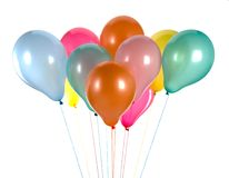 Colorful balloons isolated on white Royalty Free Stock Images