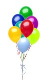 Colorful balloons isolated on white Royalty Free Stock Photos