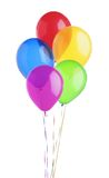Colorful balloons isolated on white. Background stock image