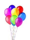 Colorful balloons isolated on white Stock Photos