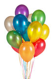 Colorful balloons isolated on white. Background royalty free stock photo