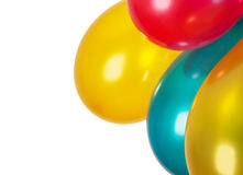 Colorful balloons isolated on white. Background royalty free stock image