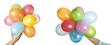 Colorful balloons. Isolated on white background stock photos