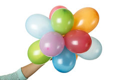 Colorful balloons. Isolated on white background royalty free stock photography