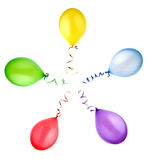 Colorful Balloons isolated Stock Photos