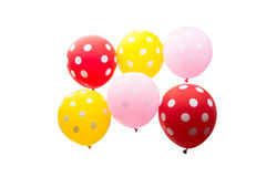 Colorful balloons isolated Stock Images