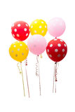 Colorful balloons isolated Stock Photo