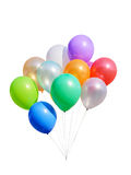 Colorful balloons isolated Stock Image