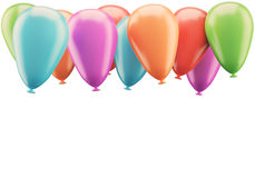 Colorful balloons isolated on white background Stock Images