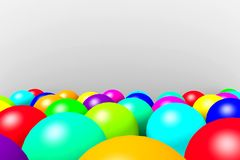 Colorful balloons on a light background. Royalty Free Stock Photos