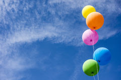 Colorful Balloons Over Sky Royalty Free Stock Photography