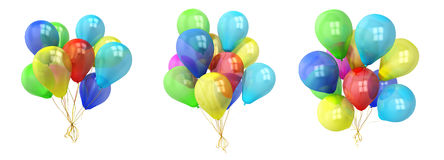 Colorful balloons over white background Royalty Free Stock Photo
