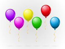 Colorful balloons pack Stock Images