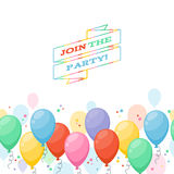 Colorful balloons party background Royalty Free Stock Photo