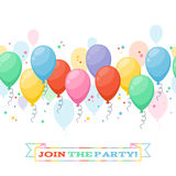 Colorful balloons party background Stock Photography