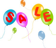 Colorful balloons sale with clipping path Stock Photos