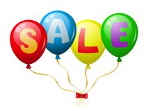 Colorful balloons sale promotion Stock Image