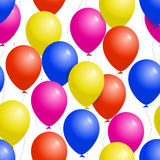 Colorful balloons seamless party pattern Royalty Free Stock Photo