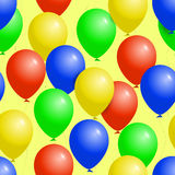Colorful balloons seamless party pattern Stock Image