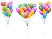 Colorful Balloons set. Isolated colorful Balloons set on white background Royalty Free Stock Photo