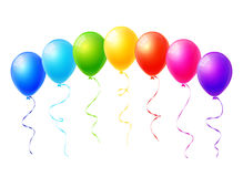 Colorful balloons. Set of colorful balloons vector Stock Photography