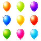 Colorful balloons. Set of colorful balloons vector Royalty Free Stock Photo