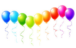 Colorful balloons set. A colorful balloons set vector Stock Photography