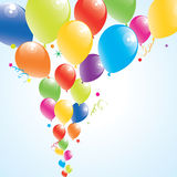 Colorful balloons in the sky. Vector illustration of colorful balloons in the sky Royalty Free Stock Images