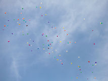 Colorful balloons in sky Royalty Free Stock Image