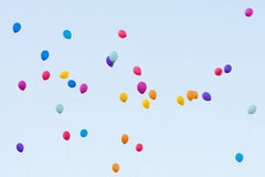 Colorful balloons in the sky Royalty Free Stock Photography